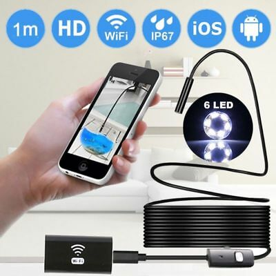 10M LED Waterproof Wifi Endoscope Borescope Inspection Camera for iPhone Android