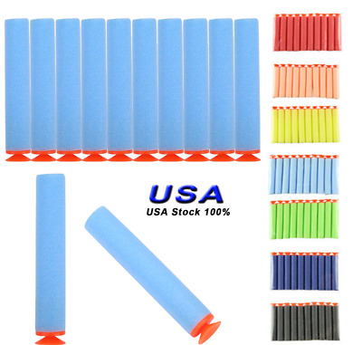 100 pcs Foam Suction Refill Bullets Darts For Nerf N-strike Kids Toy Xmas Gift