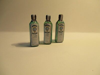 Dolls House Miniature Bottle Of Blue Sapphire Gin