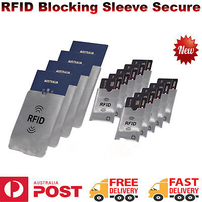 RFID Blocking Sleeve Secure Credit Card ID Protector Anti Scan Safet AU