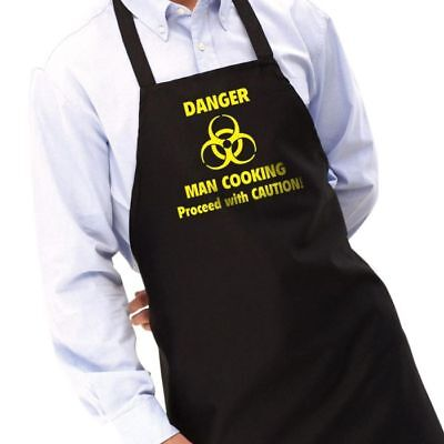 CKB Novelty Danger Man Cooking Apron Chefs Cooking Set Mens Dads Gift BBQ Joke