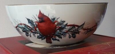 """9"""" Sentiment Bowl -Winter Greetings by Lenox-Live Well, Laugh Often, Love Much"""