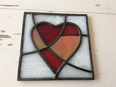 Beautiful stained glass panel with lead solder. Excellent Condition