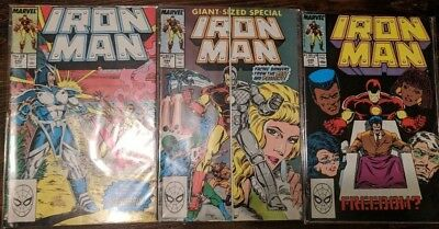 The Invincible Iron Man vol 1 #242 #244 (Giant Sized Special) #248 MARVEL