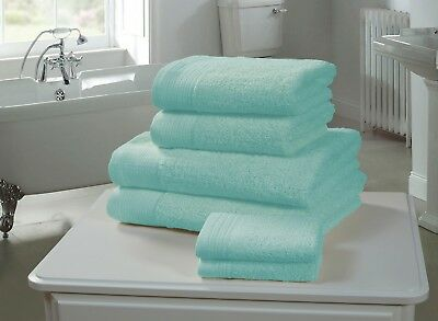 Personalised chatsworth 100% Egyptian Cotton 600gsm  Soft Towels turquoise blue