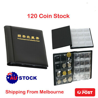 Coin Stock Holder Pockets Penny Money Storage Collection Album Book Collecting