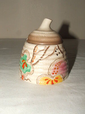 Clarice Cliff Art Deco Passion Fruit Bee-Hive Jam-Pot  Truly Stunning