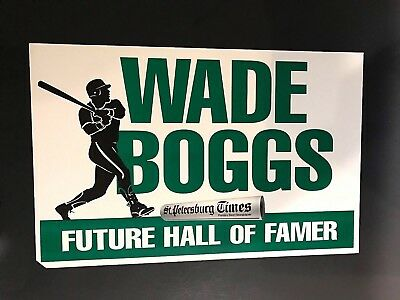 Wade Boggs Future Hall Of Famer Sign St Petersburg Tampa Bay Devil Rays Red Sox
