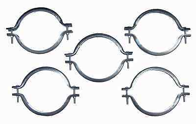 Box Of Five 8 Inch Galvanized Clamp Bands With Hardware
