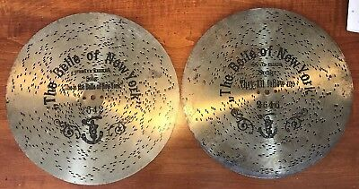 2- Music Box Polyphon Discs 11 inches The Belle Of New York #2642 & #2646
