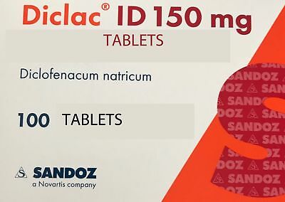 DICLAC ID 150 mg N100 Diclofenac natricum ,Kill the all PAIN joints & muscles