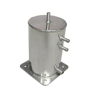 1.5 Ltr Alloy Fuel Swirl Pot Surge Tank 8mm and 11mm Polished Aluminium