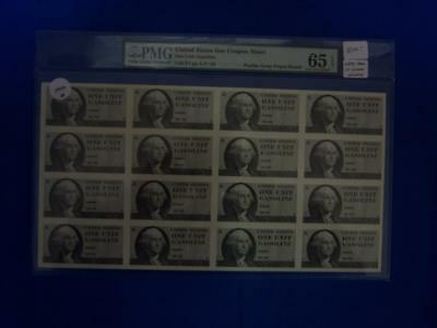 1970's, Un-Issued US Gas Rationing Coupon Sheet, See Remark (29216)