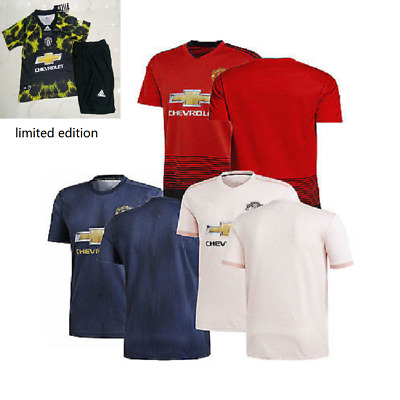 18/19 Manchester United FC limited edition Men Football Away Home Shirt Full Kit