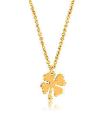 Four Leaf Clover Necklace, 4 Leaf Clover Good Luck Charm Jewelry Gift