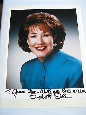 Elizabeth Dole Beautiful signed and autographed 8x10 Photo personalized to James