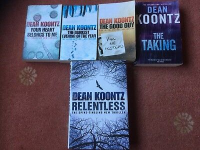 Five Dean Koontz Books From The 2000s Including One Large Hardback