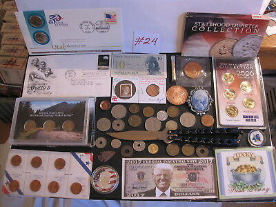 Offering An Outstanding Lot Of Tokens-Medals-Coins & Other Fine Items #24