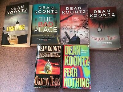 Six Dean Koontz Books Including Two Publications Of Dragon Tears