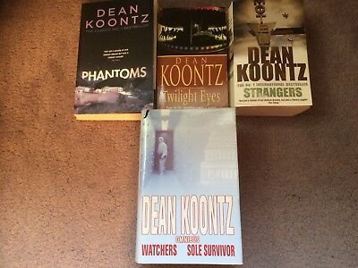 Four Dean Koontz Books From The Early Period Of His Publications