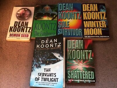 Six Dean Koontz Books From The Very Early Period Of His Publications