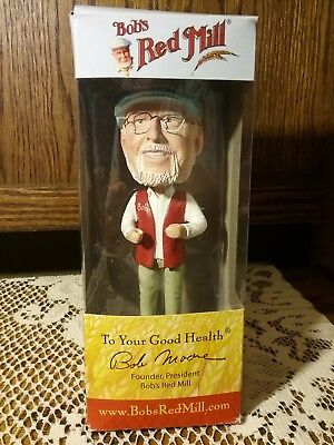 Bobblehead of Bob Moore Owner / Founder of Bob's Red Mill Milling Co. NIB