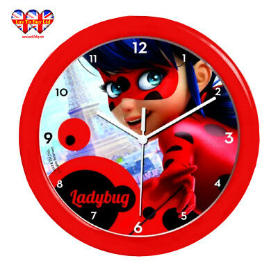 Childrens Wall Clock,  Miraculous Ladybug Wall Clock, Officially Licensed
