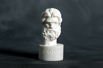 Bust of Cyclops Polyphemos carved Greek MARBLE statue figurine artist sculpture