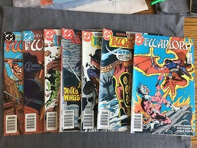 DC Comics The Warlord - Lot of 7 - 87,88,92,93,97,98,99