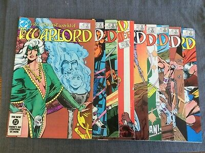 DC Comics The Warlord (Lot of 9) #81-89
