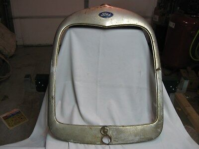 "Used 1928, 1929 Model ""A"" Grille Shell, Orginal Radiator Shroud"