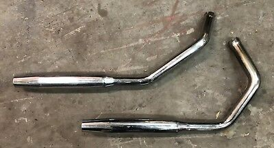 Harley Ironhead XLH XLCH 1000 Cycle Stash Exhaust Pipes Mufflers