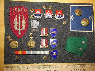 Vintage Military Pins And Patch, Korea Patch And Some Pins From Korean Conflict