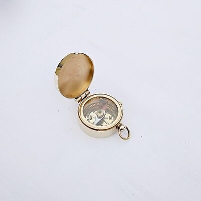 Vintage brass directional compass collectible gift