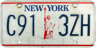 1986 series NEW YORK license plate (GIBBY GOOD)