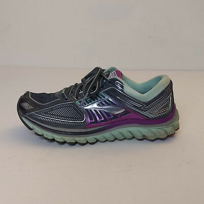 ba60508babe8b Brooks Glycerin 13 DNA Running Shoes Womens Size 8 Black Mint Green Sneakers  X4