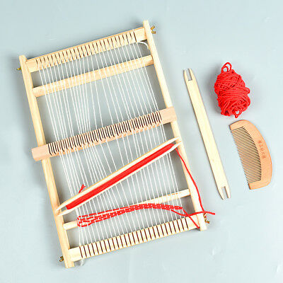 Wooden Traditional Weaving Loom Children Toy Craft Knitting Machine Knitter Tool