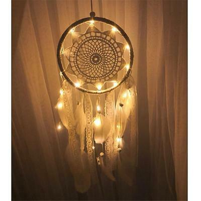 LED Light Dream Catcher Feathers Car/ Home Wall Hanging Decoration Ornament Gift
