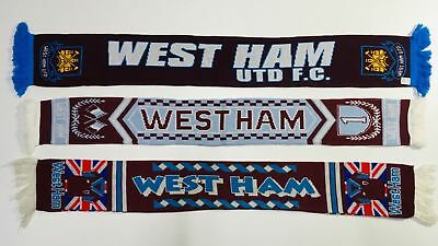 West Ham Scarf The Hammers Vintage Football Scarves England Retro London Premier