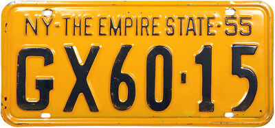 1955 1956 NEW YORK license plate (GIBBY CHOICE)
