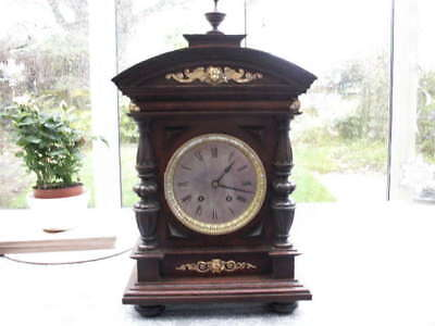 Lovely Oak Cased Striking Mantle Clock Lenzkirch