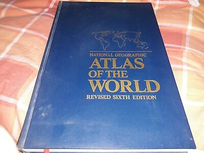 National Geographic ATLAS OF THE WORLD 6th Edition Revised - VG Hardback