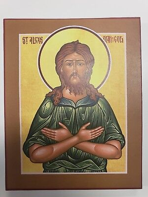 Alexis the Man of God, Orthodox Icon, Size 7, 14/16 x 9, 14/16 inches