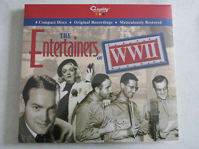 The Entertainers Of Wwii 4 Compact Discs, 2004 Quality Autio New Sealed