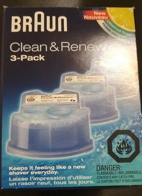 Braun Clean and Renew 3 pack CCR3  New in Box