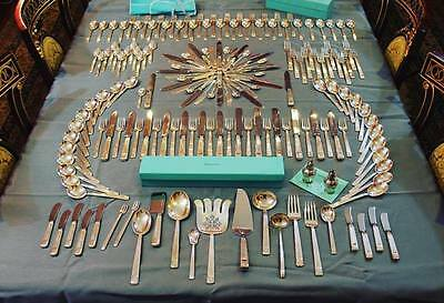 RARE Tiffany Century Sterling Silver Flatware 173 Piece Silverware Set For 12