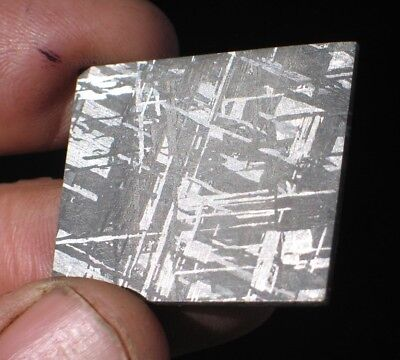 Gorgeous Etched Gibeon Iron Meteorite Thin Slice #101 Beautiful Etch 4 Jewelry!