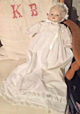 VINTAGE  BISQUE HEADED DOLL ASSEMBLED FROM KIT PURCHASED in  early 1980's