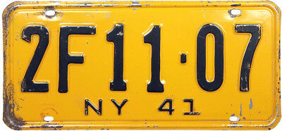1941 NEW YORK license plate (GIBBY GOOD)
