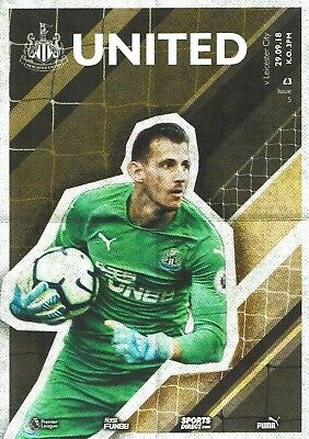 Newcastle United v Leicester Matchday Programme 2018/19 - 29th September 2018